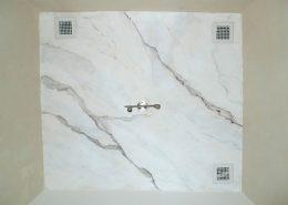 Decke: Carrara Marmor - Malerei Marmorierung