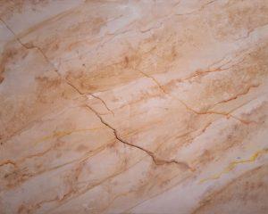 Platte: Cream Jade, mit Braunstich - Malerei Marmor