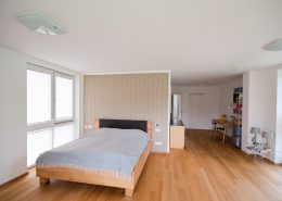 Schlafzimmer, Gestaltung mit Musterwalze