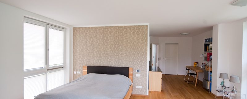Schlafzimmer, Gestaltung Mit Musterwalze - Waldherr Malermeister