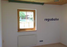 "Bürogestaltung, Schriftzug ""regiobahn"", ca. 105 cm"