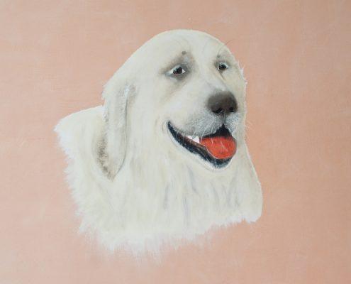 "Wandbild, Hund ""Balu, zirka 70 x 90 cm"