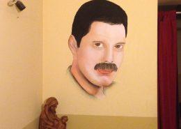Wandbild, Freddy Mercury, Portrait, ca. 50 x 80 cm