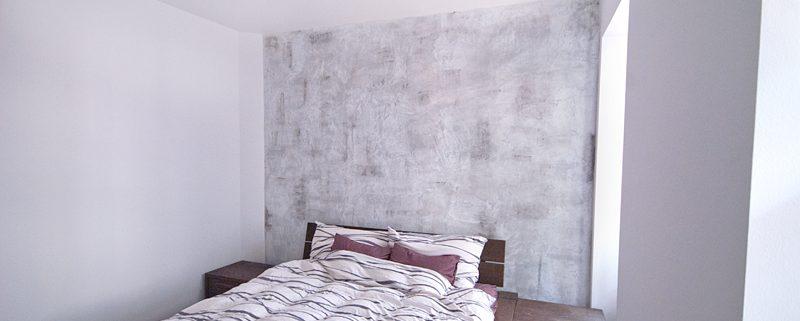 Shabby Chic - Wandgestaltung im Schlafzimmer