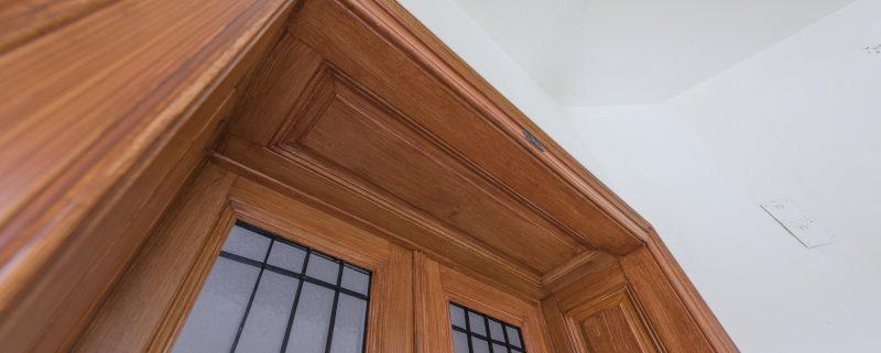 Wohnungstür mit Holzlasur - Holzimitation