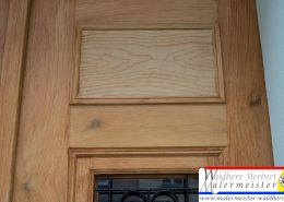 Eingangstür mit Holzlasur - Holzimitation