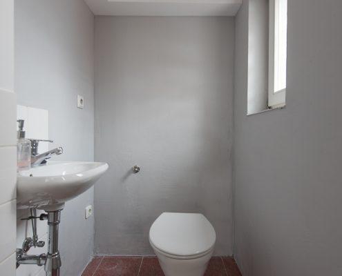 Wandgestaltung, Spachteltechnik, WC, mit Schutzanstrich gut zu reinigen