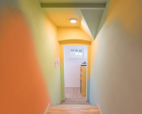 Farbverlauf im Stiegenhaus
