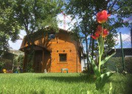 Kleingartenhaus / Holzhaus - erneuern der Lasur