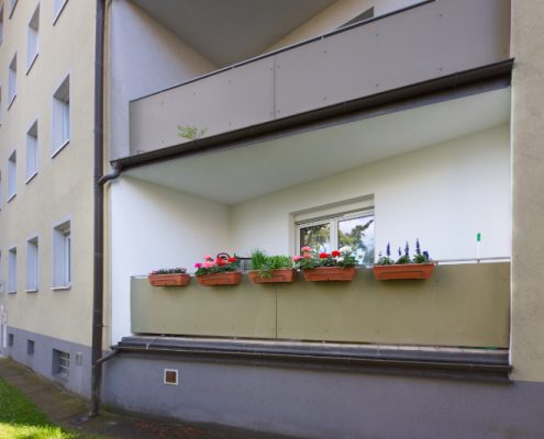 Fassadenmalerei Balkon